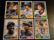 Frank White 1981 Topps #330 Autograph KC Royals Signed '80s Auto World Series
