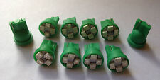 10 Green Olds *SUPER BRIGHT* 12V LED 194 Wedge Instrument Panel Light Bulbs NOS