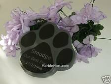 Dog Cat Paw Print Pet Memorial Made in Natural Granite