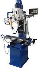 Bohr- Fräsmaschine SWM Bohrmaschine Fräse mit 3-Achs Digitalanzeige + Pinolenanz