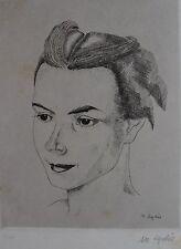 LYDIS MARIETTE (1887-1970) : Portrait. Eau-forte originale. signée Byblis