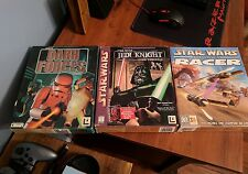 Lucas Arts Star Wars (PC Big Box) Game Lot - Free Shipping