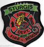 """Sturgis  Fire - Rescue, South Dakota  (3.5"""" x 4"""") fire patch"""