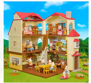 CALICO CRITTERS #CC1796 Red Roof Country Home Kids  Gift Set New Factory Sealed