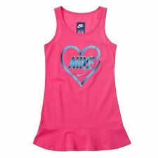 NIKE Toddler Girls Knit Sleeveless Summer Dress NWT 2T Pink Athletic Play Heart