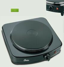 Oster Single Black Burner. Color Black. 900W Motor, Adjustable Temperature. New