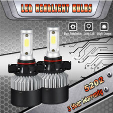2x 1900W 5202 H16 High Power Super White LED Fog Lights Driving Bulbs DRL 6000K
