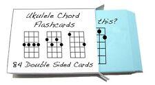 Ukulele Chord Symbol Flashcards 84 Cards! (For Soprano, Concert & Tenor Uke)