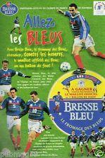 Publicité Advertising 1998 Fromage Bresse Bleu Coupe du monde 98