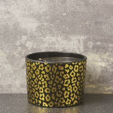 LEOPARD SPOTS 2 WICK SCENTED CANDLE POT