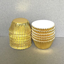 MINI Gold Foil Cupcake Liners, Gold Mini Cupcake Wrappers, Gold Candy Cups