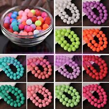 Wholesale Rubber Like Charms Round Loose Spacer Glass Beads Lot 4mm 6mm 8mm 10mm