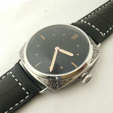Parnis Black Dial carving military Mechanical hand winding Watch Florence 001