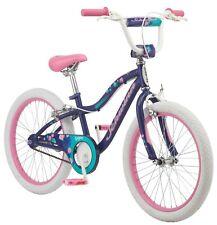 Schwinn Sequin Kids Bicycles 20-Inch Wheels Single Speed Girls Fun Bike Blue