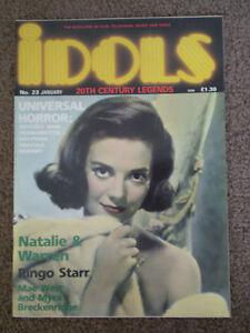 IDOLS - 20TH CENTURY LEGENDS MAGAZINE ISSUE No.23 - Film/TV Monthly [1990]