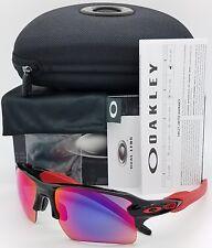 NEW Oakley Flak 2.0 XL sunglasses Black + Red Irid 9188-24 ruby TEAM XLJ Jacket