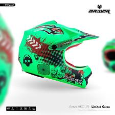 ARMOR AKC-49 Neon Green Kids Cross-Helm Kinder-Helm Pocket-Bike Moto XS S M L XL