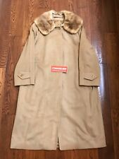 Vintage Men's Burberry Camel Hair Coat Jacket Peacoat Classic Supreme Size M L