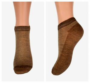 Low Cut No show Invisible Camel Wool Ankle Socks
