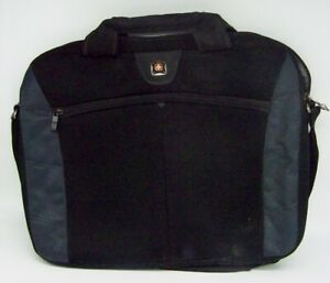 """SWISS GEAR WAGNER 16"""" BLACK LAPTOP PADDED BAG CASE COMPUTER BAG WITH STRAP"""