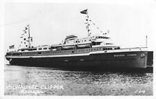 Rppc S.S. Milwaukee Clipper Muskegon, Michigan Steamship c1950s Vintage Postcard