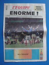 JOURNAL L'EQUIPE n°16 635 daté du 1 novembre 1999 - ENORME ! - FRANCE RUGBY CDM