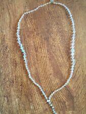 Graduated Stones Necklace Art Deco Clear