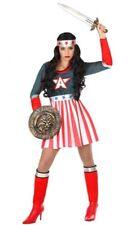 Déguisement Femme CAPTAIN AMERICA XL 44 Super Héro Comics NEUF Pas cher