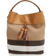 Burberry Medium Ashby Bucket Bag Brown Def $950 Floor Model
