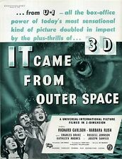 IT CAME FROM OUTER SPACE 1953 Richard Carlson 3-D Jack Arnold TRADE ADVERT