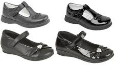 Girls School Mary Jane T Bar Shoes Hook & Loop Formal Wedding Dress UK Sizes 6-2