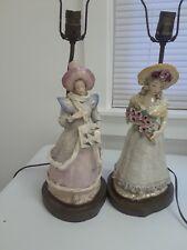 Antique porcelain figurine lamps