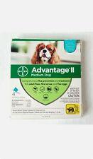 New 4 Doses Bayer Advantage Ii Medium Dog 11-20lbs Topical Flea & Lice A8