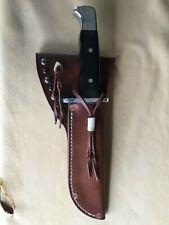 PREMIUM CUSTOM BUCK 124 HEAVY LEATHER KNIFE SHEATH HUNTING BOWIE SHEATH ONLY