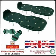 GARDEN LAWN GRASS AERATOR SPIKED STRAP ON SHOES HELPS REDUCE MOSS & ROOTS