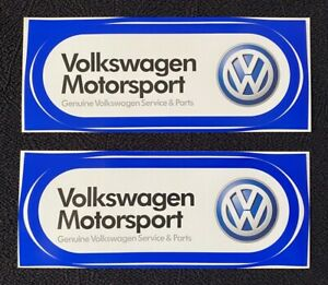 Two Vintage Volkswagen Motorsport Stickers NOS
