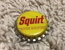 Vintage Red & Yellow SQUIRT Pop Bottle Cap Free Shipping