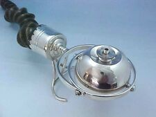 1903 MILITARY MESS LONDON STERLING SILVER & HORN GIMBALED CIGAR LIGHTER