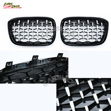 For BMW X3 G01 X4 G02 18-20 Chromed Black Diamond Front Kidney Grille Replace