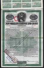 1909 New Orleans Railway and Light Company (French Issue) - Gold Bond
