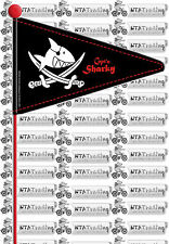 CAPT'N SHARKY Wimpel Fahrradwimpel Fahrradfahne Sicherheitsfahne teilbar 865154