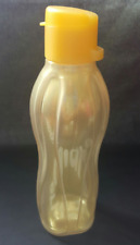 Tupperware Water Bottle 16 oz Flip Top Liquid tight Screw Seal Gold Award New