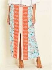 Crossroads Bohemian Floral Button Maxi Skirt With Front Buttons Size 16