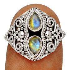 Moonstone - India 925 Sterling Silver Ring Jewelry s.6 BR43342 263F