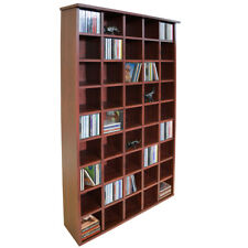 CD Storage Shelves - Mahogany Display Cabinet Only 20cm Thick Space Saving