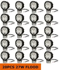 20 PCS 20 PACK 27w 4 Inch Round Flood Light Led Work Off Road Fog Driving
