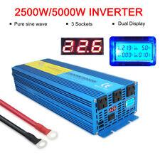 LVYUAN Pure Sine Wave Power Inverter 2500W 5000W 24V to 240V Truck Converter LCD
