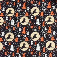 Bundle Remnant Polycotton Fabric 35 cm x 112 cm HALLOWEEN WITCH /& GHOSTS