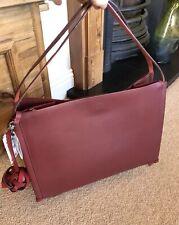 Zara Dark Red Leather Tasseled Large Tote Bag BNWT