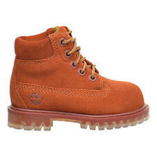 Timberland 6 Inch Water Proof Suede Premium Toddler's Boots Rust tb0a1blq